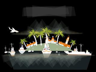 Travel background, Paradise island