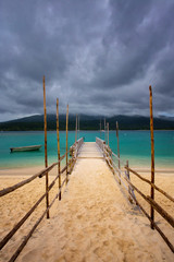 Popular cruise port Mystery Island, Vanuatu