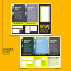 vector tri-fold business brochure design