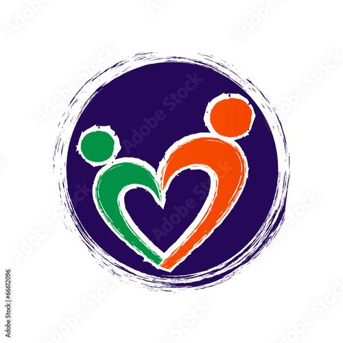 логотип сердце и люди