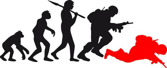 Evolution Affe Krieg Tot War Krieger Dumm