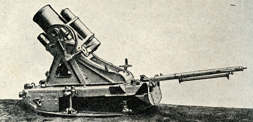 German trench mortar ca. 1914
