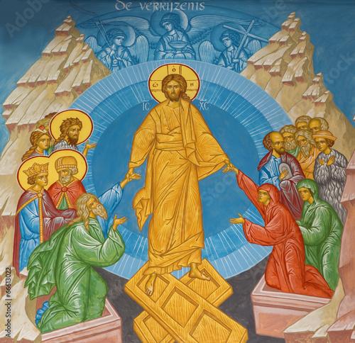 Fototapeta Brugge - Fresco of Jesus Christ in the heaven in orthodox church