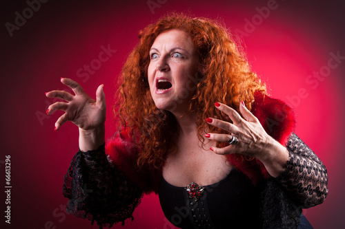 woman playing bad witch