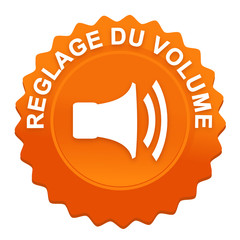 réglage du volume sur bouton web denté orange