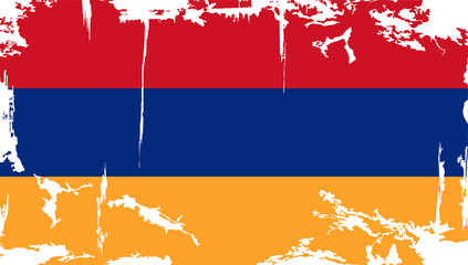 Armenian grunge flag. Vector illustration