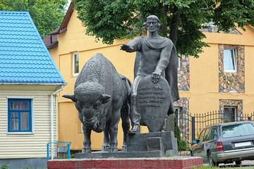 Monument of prince Vladimir Vasilkovich in Kamenets, Belarus