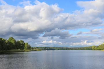 Beautiful lake view. Mazury, Poland.