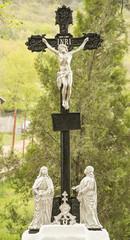Religious cross memorial