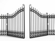 Black iron gate - 66615262