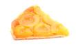 part de tarte aux abricots