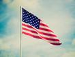 Retro look USA flag