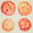 Retro look Pizza isolated