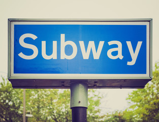 Retro look Subway sign