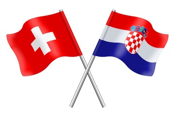 Flags: Switzerland and Croatia
