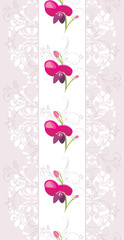 Light violet ornamental border with stylized flowers