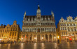 Brussels - Main square and Grand palace in evening.