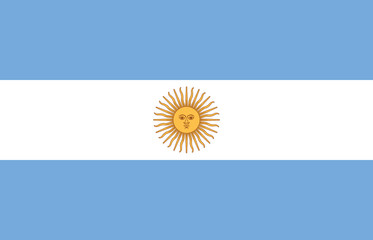 High detailed flag of Argentina