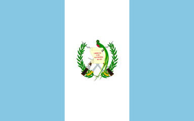 High detailed flag of Guatemala