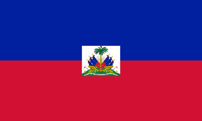 High detailed flag of Haiti