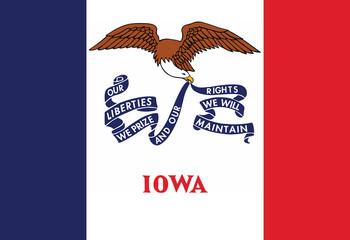 High detailed flag of Iowa