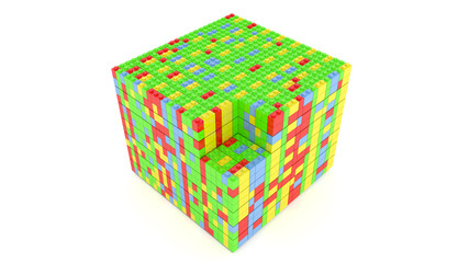 Cube from blocks