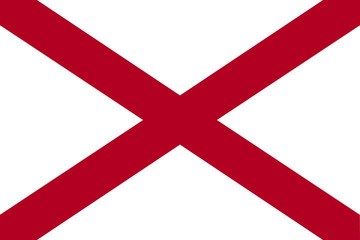 High detailed vector flag of Alabama