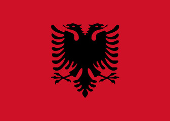 High detailed vector flag of Albania