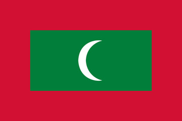 High detailed vector flag of Maldives