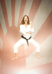 woman ready for judo