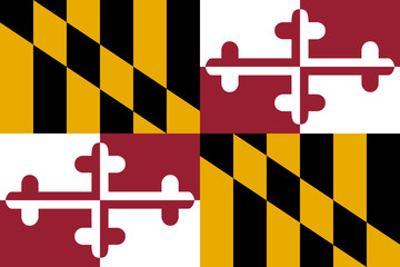 High detailed vector flag of Maryland