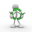3d character holding a circular arrow
