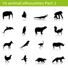 16 animal silhouettes Part 2