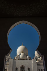 Grand mosque in Abu Dhabi  UEA