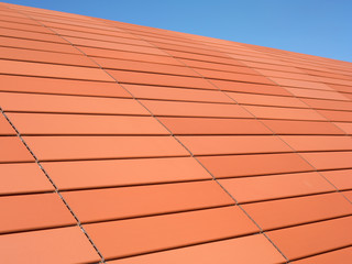 Ceramic roof detail in orange tone