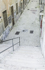 Alley with stairs