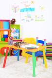 Interior of classroom at school