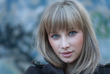 Charming blond haired women headshot
