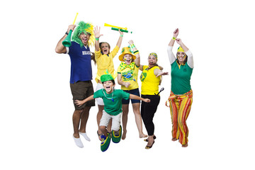 Brazilian supporters celebrating