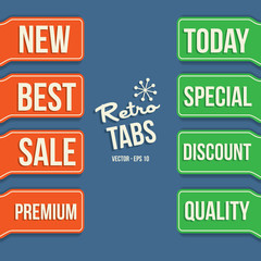 Retro Vintage Retail Sale Tabs - Design Elements