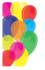 Colorful Balloon of Celebration Isolated Background