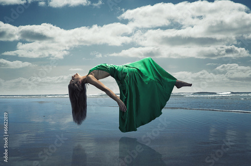 canvas print picture Floating Woman