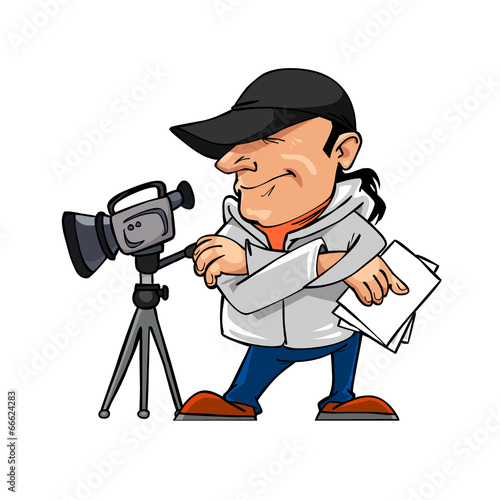 Man Cartoon Video Cartoon Character Man And a