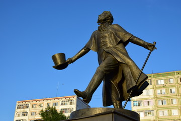 Monument to Pushkin in Astana / Kazakhstan