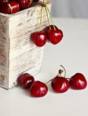 Deliciosas dulces cerezas