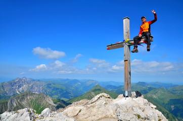 Berg, Gipfel und Ziel mit Erfolg erreicht