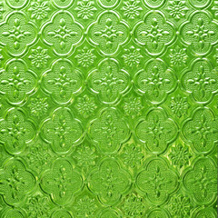 Green pattern glass  background