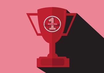 champions cup icon in illustration idea design