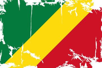 Congo grunge flag. Vector illustration