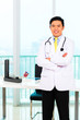 Asian doctor in office or medical surgery